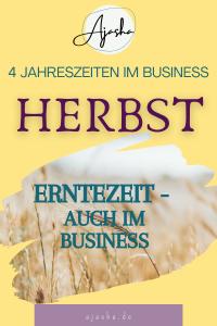 Erntezeit - auch im Business